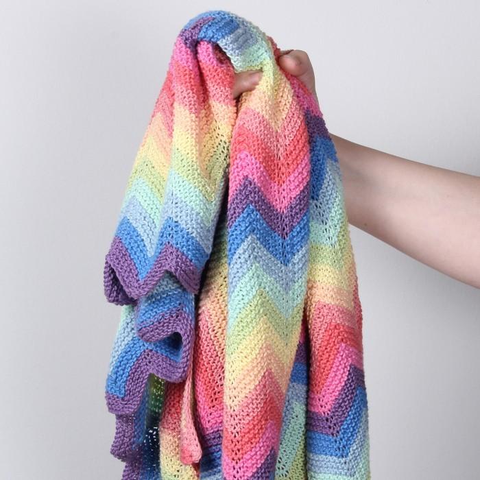 Super Regenboog Deken Pastel Patronen Hobbiinl