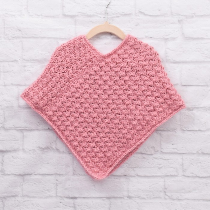 Autumn Waves Poncho - Kinder Anleitungen