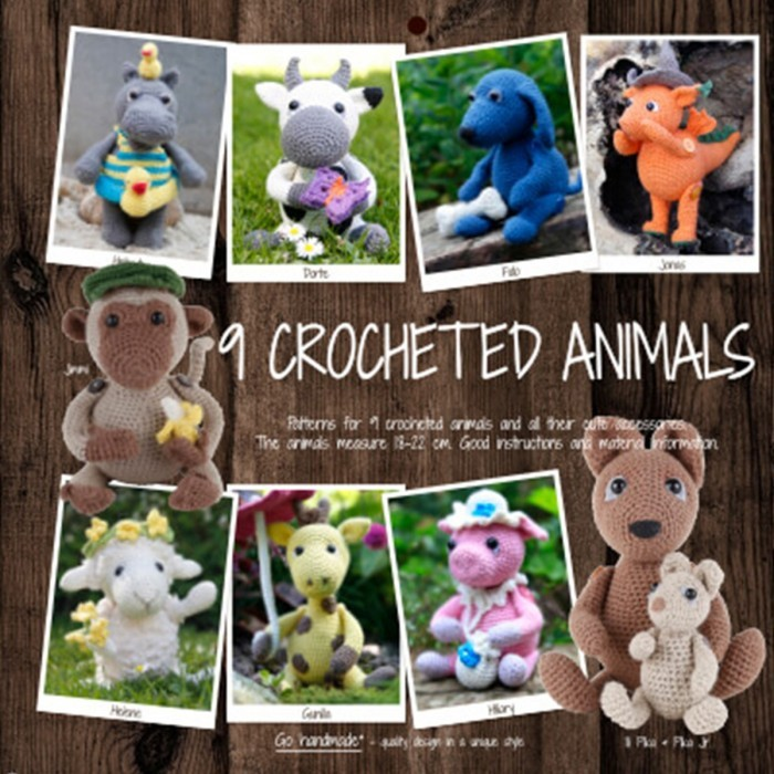 9 Crocheted Animals Books Go Handmade