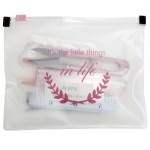 Zipper bag m/ statement 'It's the little things in life' - 9 dele Tilbehør Go Handmade