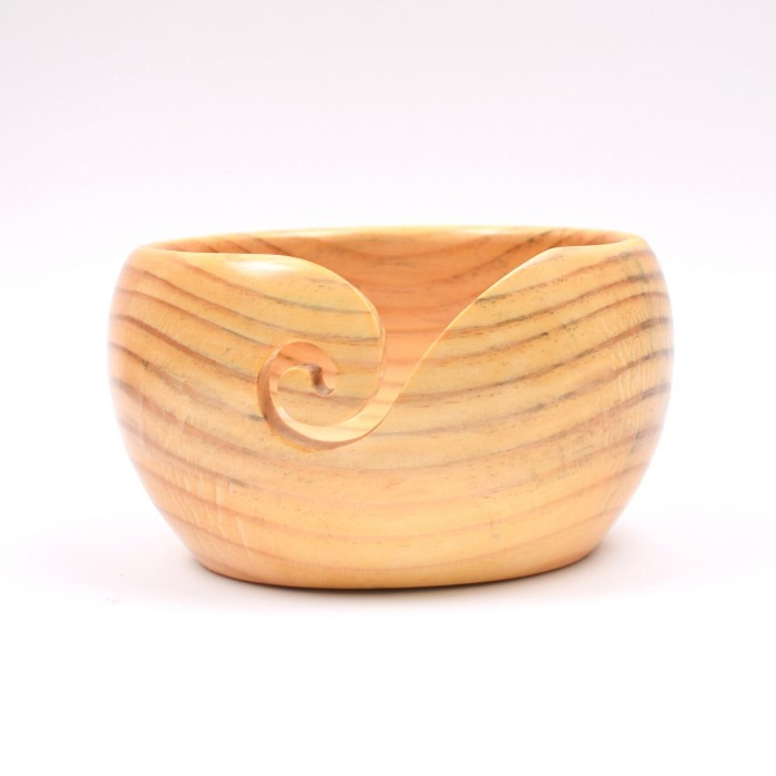 Yarn Bowl, Pine Wood, 10 x 18 cm (3.9 x 7.1 inches) Yarn Bowls Hobbii