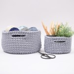 Bungee Basket with Handles - Big Patterns