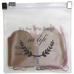 "Manilla labels set ""It's the little things in life"" Accessories Go Handmade"