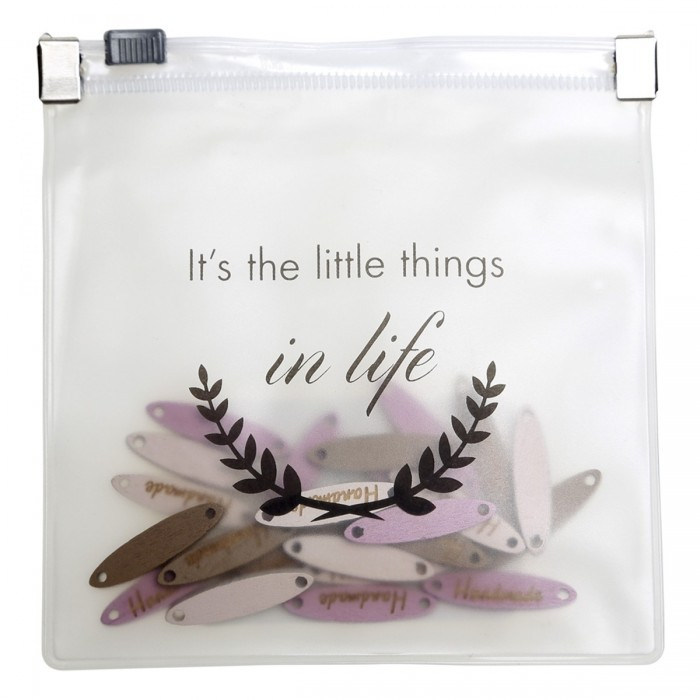 Træ markater ''It's the little things in life'' Tilbehør Go Handmade