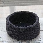 Moss Stitch Basket - Round Patterns Go Handmade