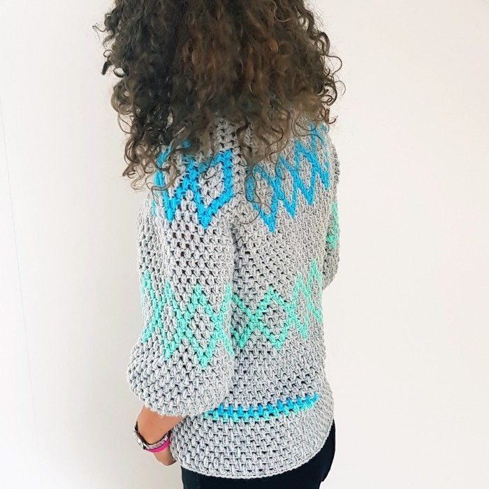 Diamonds Puff Sweater Patterns