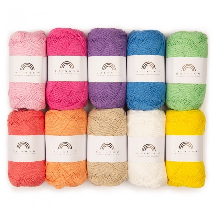 Rainbow Cotton 8/4 Color Pack (1-8) Yarn Hobbii