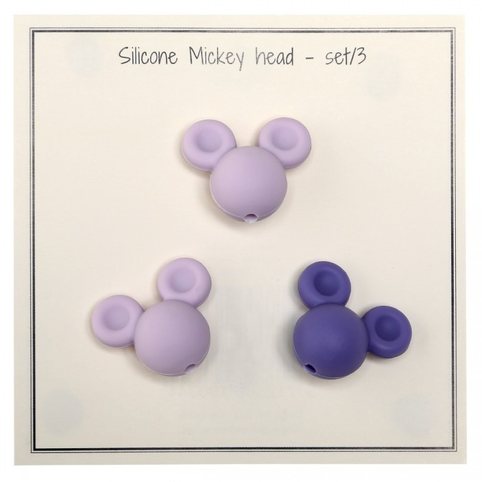 Silicone Pearls – Mickey – 3 pcs Accessories Go Handmade