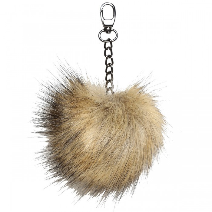 Pom-pom charm and metal chain – 4.33 inches (11 cm) Accessories Go Handmade