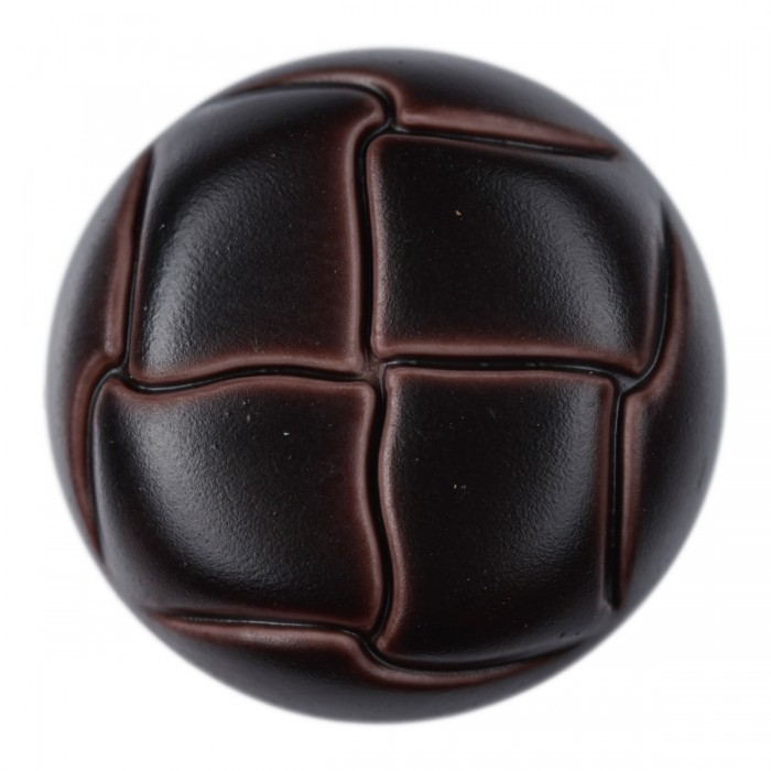 Button with leather look with eye, 1.41 inches (36 mm) Buttons