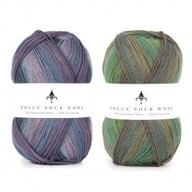 Dolce Sock Wool Stripes Garn Hobbii