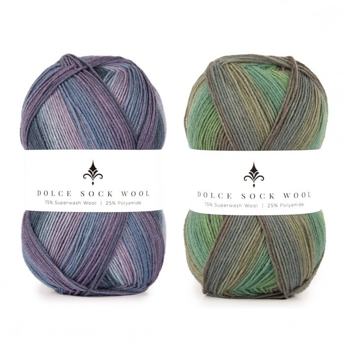 Dolce Sock Wool Stripes Yarn Hobbii