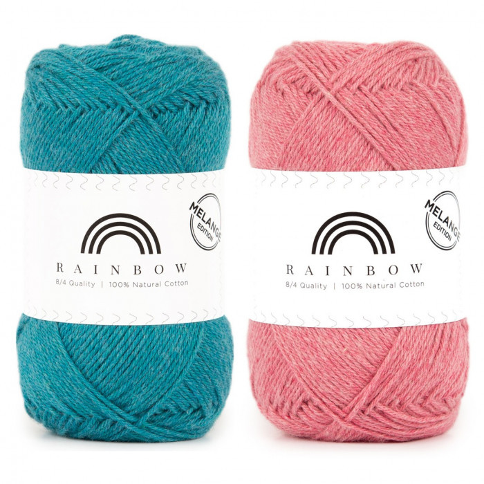 Rainbow Cotton 8/4 Melange Fils Hobbii