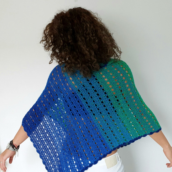 Green Sea Poncho Patterns