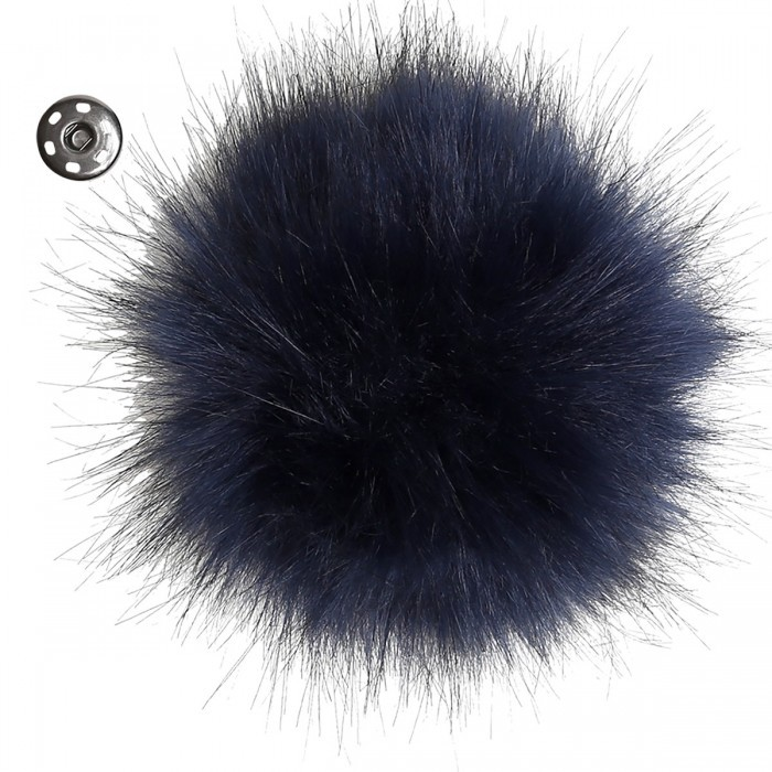 Pom Pom - Dark Blue Accessories Go Handmade