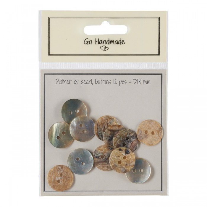Mother-of-pearl Buttons - Natural