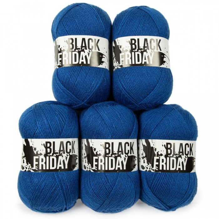 Black Friday Acrylic Yarn - 5 x 100 g (Limited Edition 2019) Yarn Hobbii
