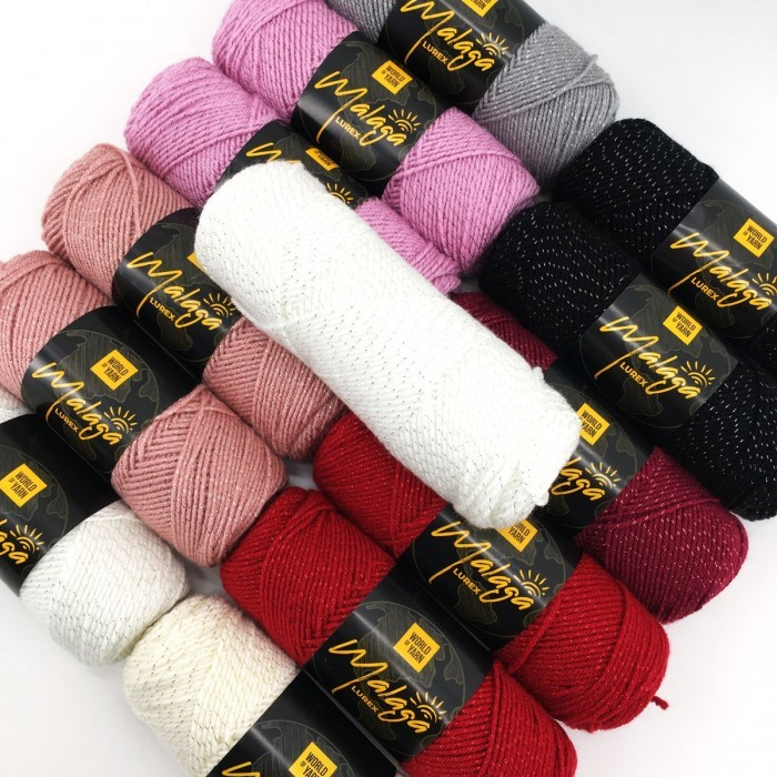 Malaga Glitter Fils World of Yarn