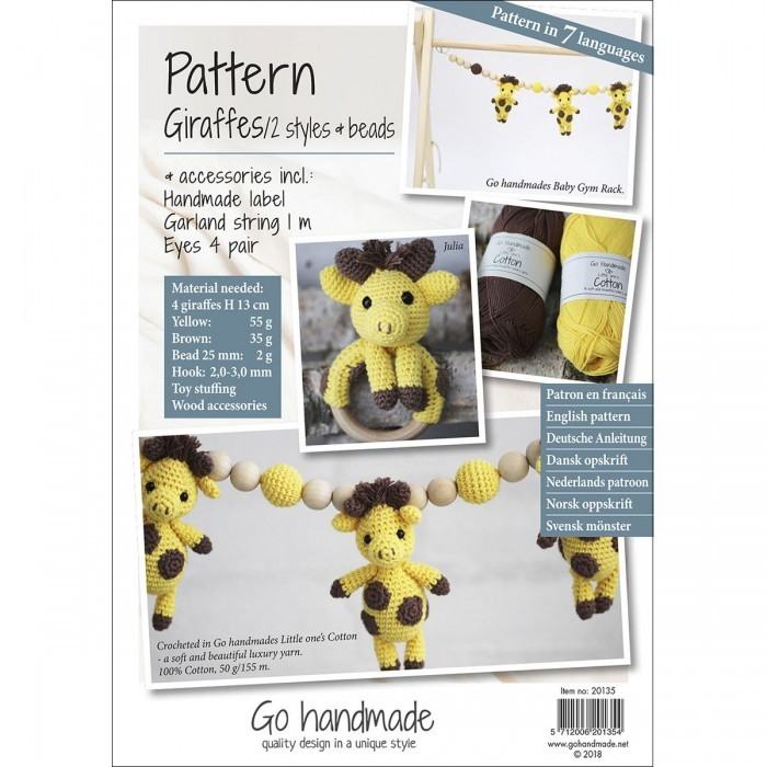 Pattern Pack for Giraffes - 2 Varieties & Beads Go Handmade Go Handmade