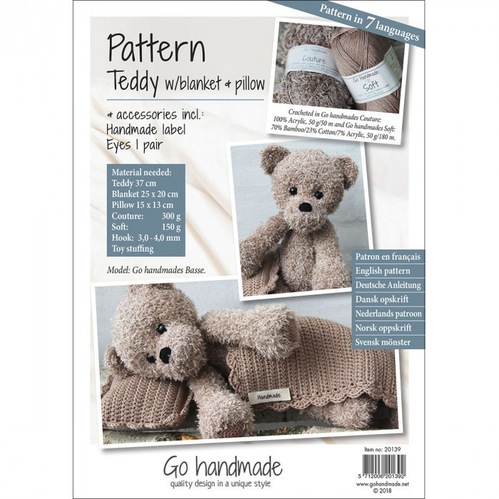Latch Hook Cushion Kits Teddy Bear Pillow Case Crochet Hobby ... | 700x700