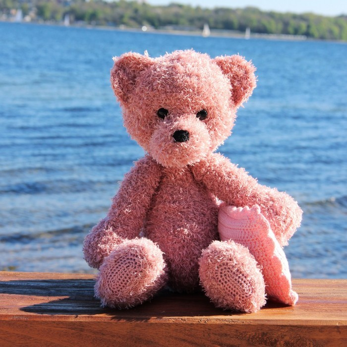 Pattern Pack - Teddy with Blanket and Cushion in Pink Go Handmade Go Handmade