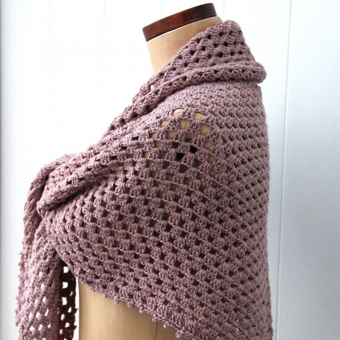 Granny Shawl with Picot Edge Patterns Go Handmade