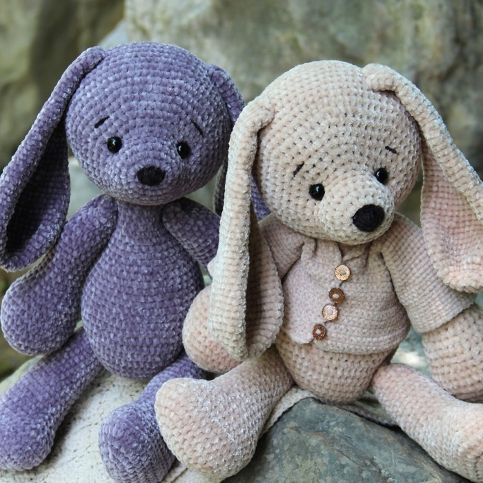 Velvet Bunny Amigurumi Free Crochet Pattern - Crochet For You | 700x700