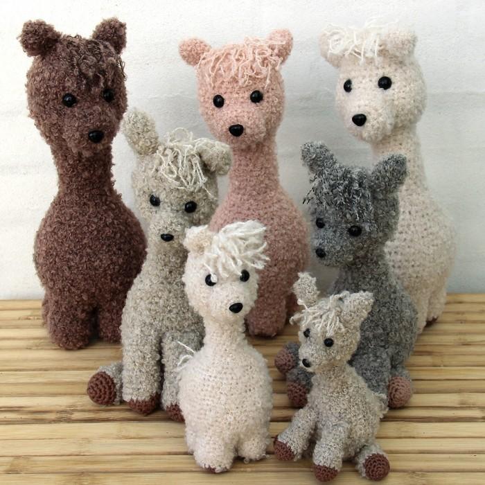 Alpaca Family Modèles Go Handmade