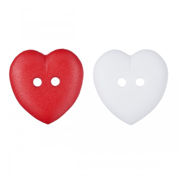Heart Button, 0.6 Inches (15 mm) Accessories