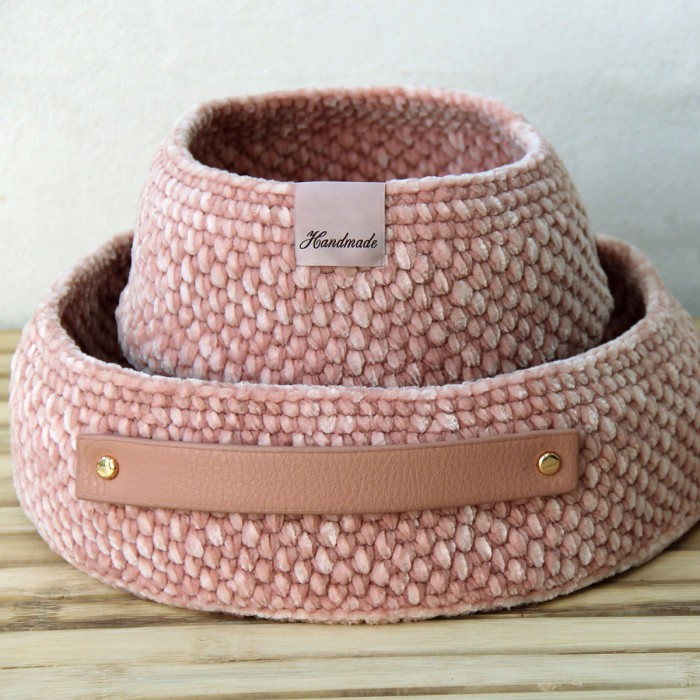 Moss Stitch Basket with PU bases - universal Patterns Go Handmade