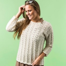 1724-1 - Mönstret sweater i Mayflower Easy Care Cotton Merino Mönster Mayflower