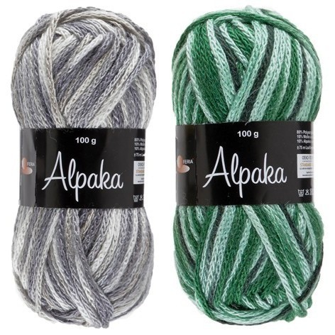Alpaka Light Print 100g Garn Lammy