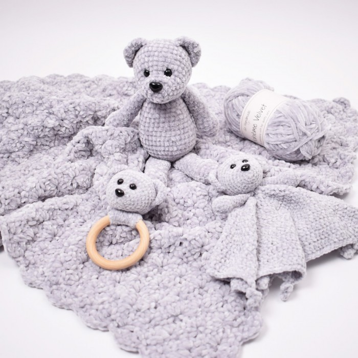 Snuggle Bear and Blanket Patterns