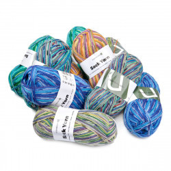 Lot Mystère - Sock Yarn Print Fils ScandinaviU