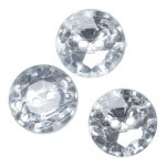 Crystal buttons, 3 pcs., 20 mm (0.79 inches) Accessories Hobbii