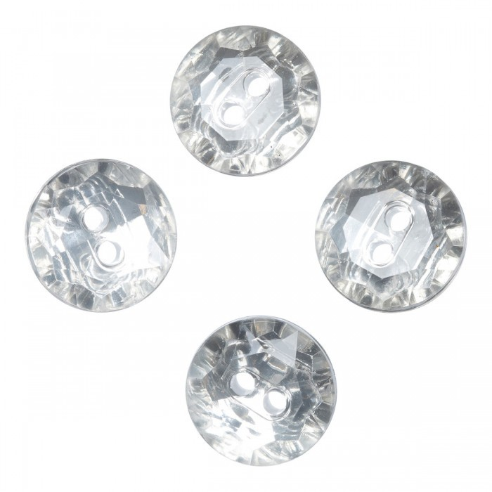 Crystal buttons, 4 pcs., 12 mm (0.47 inches) Accessories Hobbii
