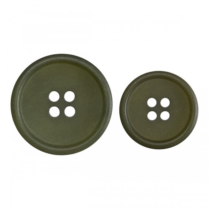 Green Buttons out of Recycled Paper Accessories
