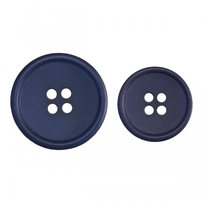 Blue Buttons out of Recycled Paper Accessories