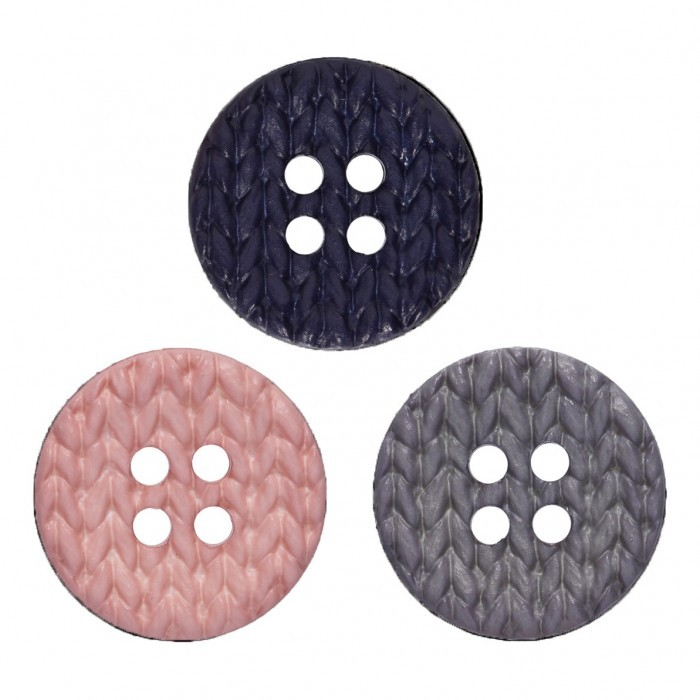 Polyamide Button w/Knitting Pattern, 25 mm Accessories