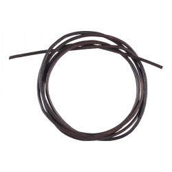 Round leather cord 2mm - 100 cm - dark brown Accessories Hobbii