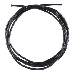 Round leather cord  2mm - 100 cm -Black Accessories Hobbii