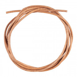 Round leather cord  2mm - 100 cm - Pale Brown Accessories Hobbii
