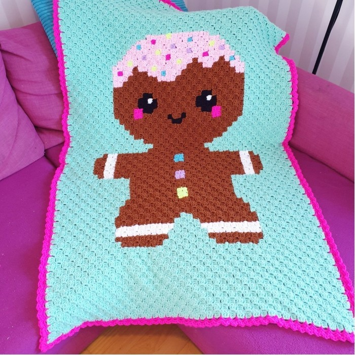 Kawaii Gingerbread Man - Blanket Patterns