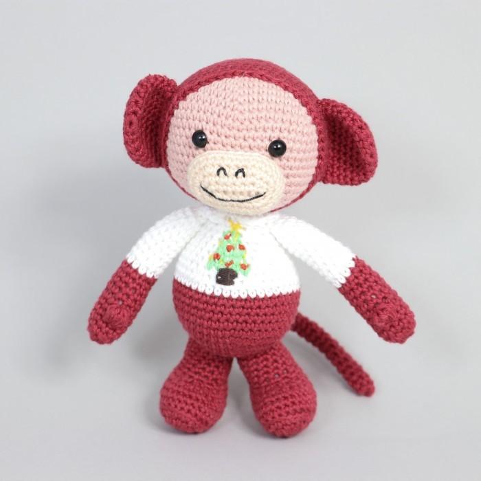 Free tiny monkey crochet pattern - Amigurumi Today | 700x700