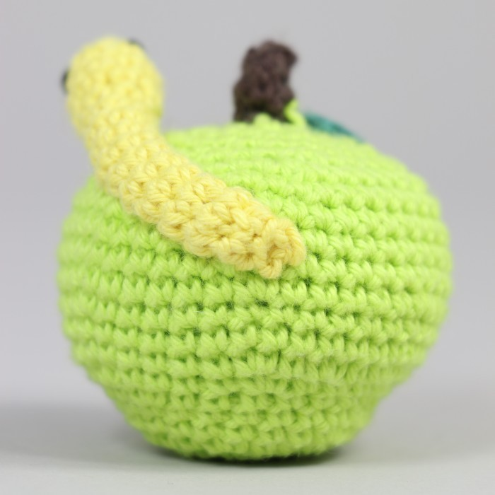 Apple with Worm Patterns