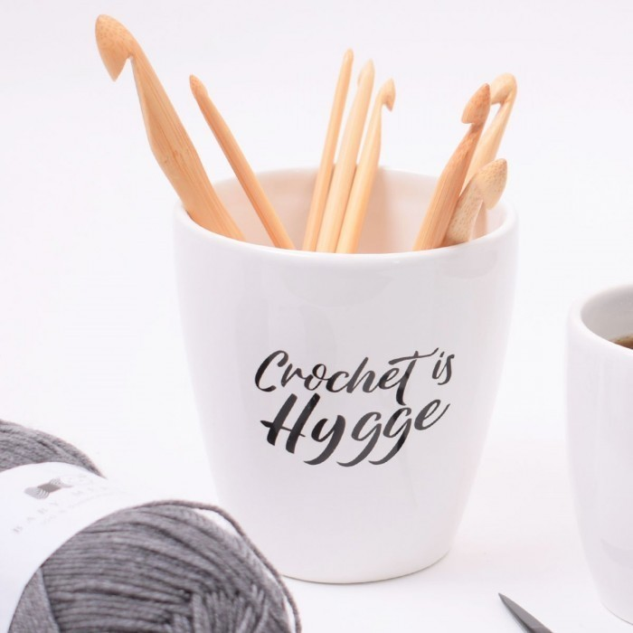 "Coffee mug XL ""Crochet is hygge"" Accessories Hobbii"
