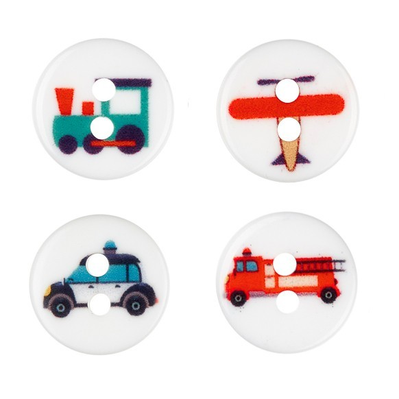 Transportation buttons, 0.51 inches (13 mm) Accessories