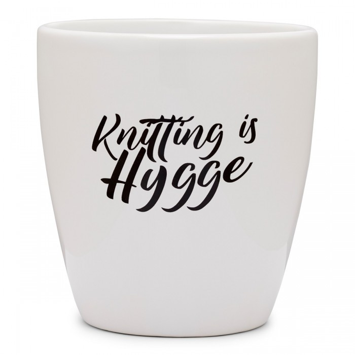 "Coffee Mug XL ""Knitting is hygge"" ppp Hobbii"