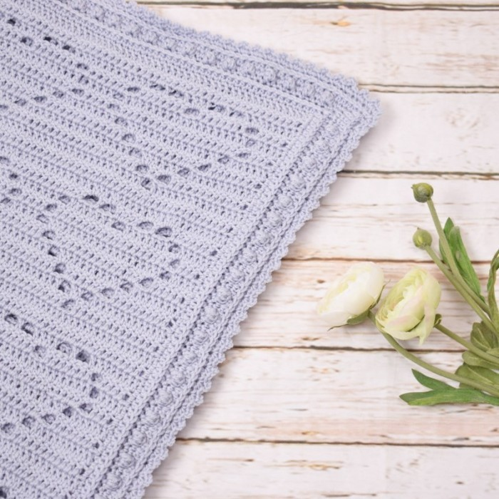 ADORABLE LOVE HEARTS BABY AFGHAN to CROCHET in SPORT WT YARN by FIBER TRENDS