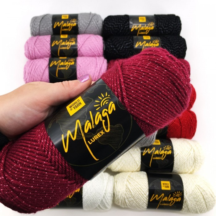 Malaga Glitter Garn & Wolle World of Yarn